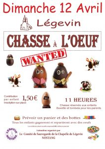 AFFICHE CHASSE A L OEUF 2015